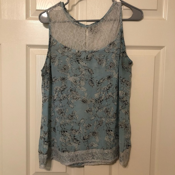 Light Blue and Lace Tank Top